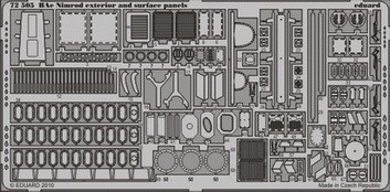 Eduard Nimrod exterior and surface panels (Airfix)