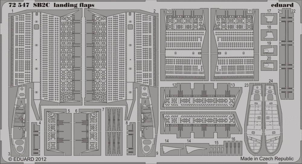Eduard SB2C landing flaps (Cyber Hobby)