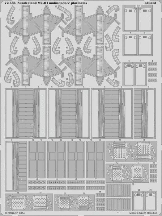 Eduard Sunderland Mk.III maintenence platforms (Italeri)