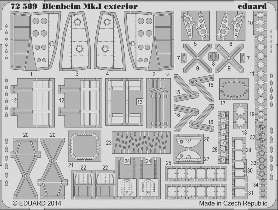 Eduard Blenheim Mk.I exterior (Airfix)