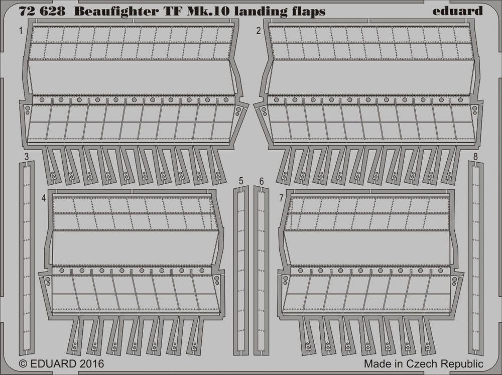 Eduard Beaufighter TF Mk.10 landing flaps (Airfix)