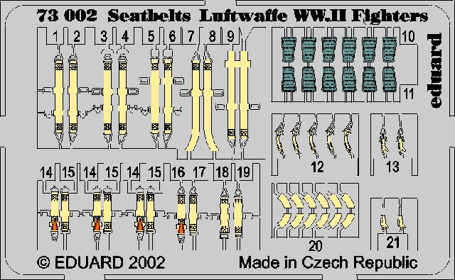 Eduard Seatbelts Luftwaffe WWII Fighters
