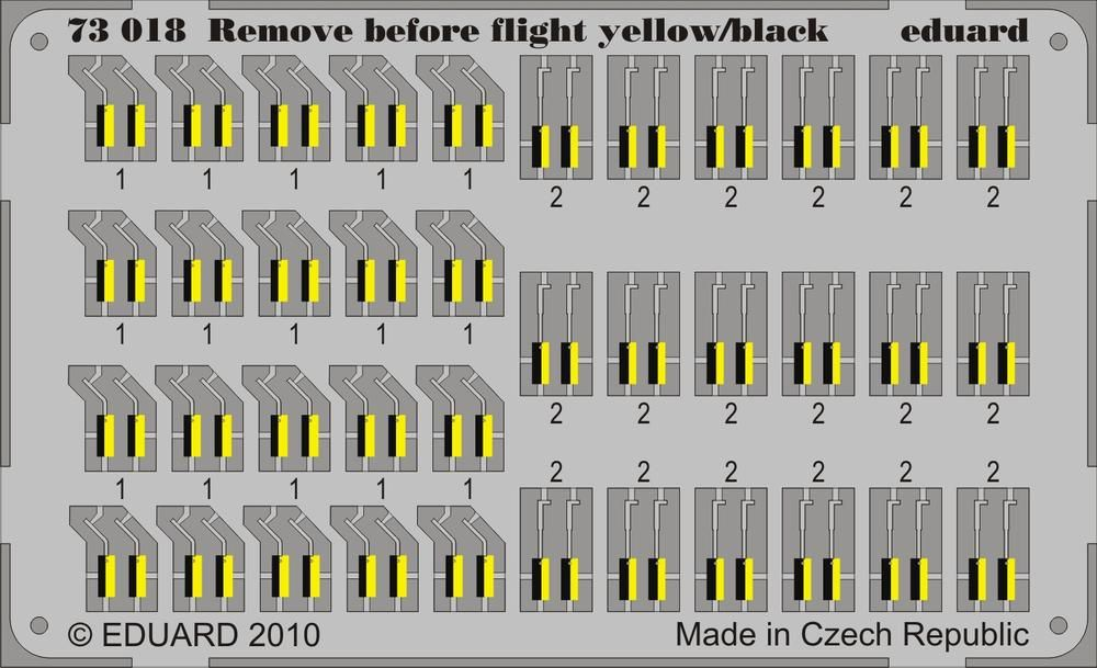 Eduard Remove Before Flight - yellow/black