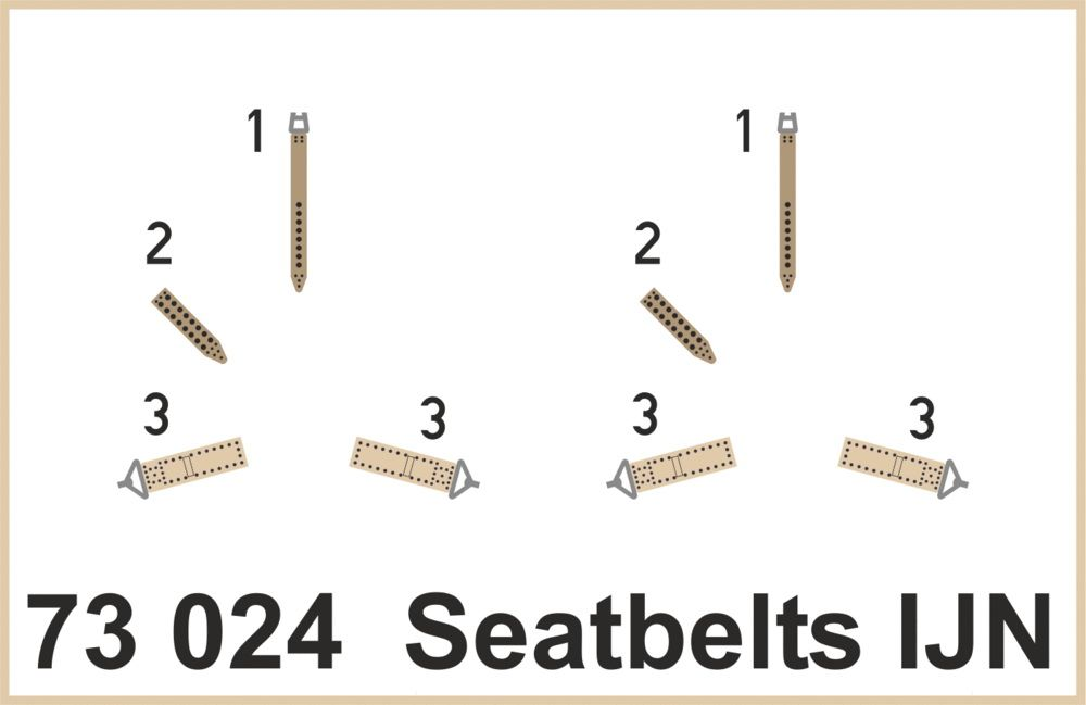 Eduard Seatbelts IJN SUPERFABRIC