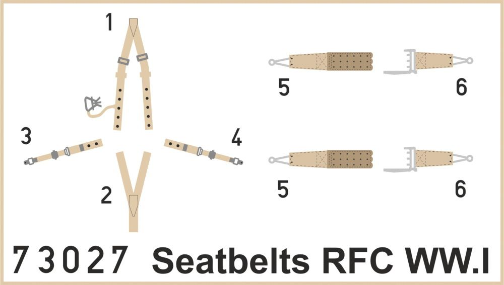 Eduard Seatbelts RFC WWI SUPERFABRIC