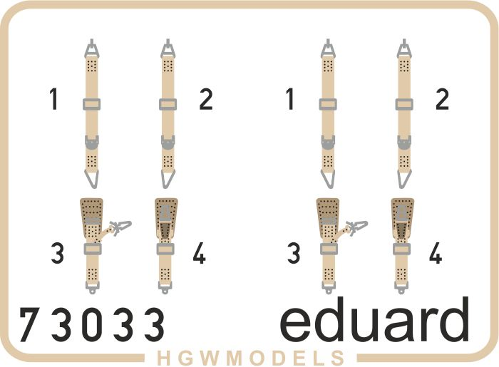 Eduard Fw 190A-8 seatbelts SUPERFABRIC (Eduard)