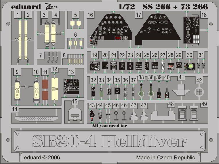 Eduard SB2C-4 (Academy)