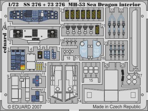 Eduard MH-53 interior (Italeri)
