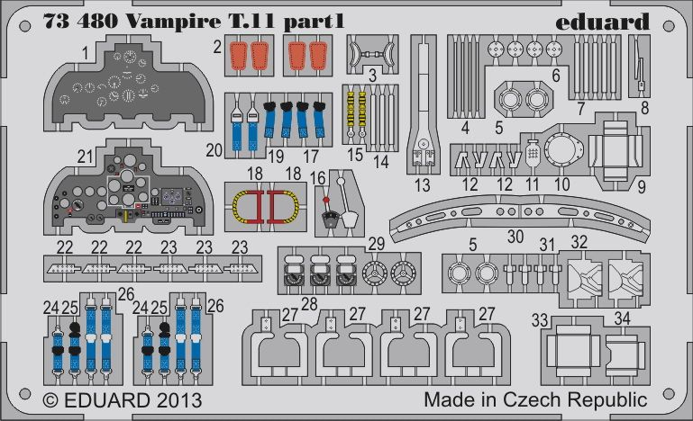 Eduard Vampire T.11 (Airfix)