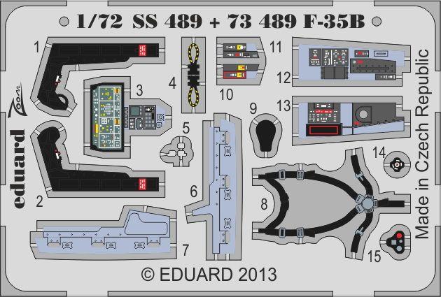 Eduard F-35B interior S.A. (Fujimi)