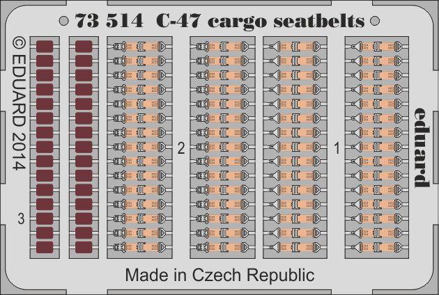 Eduard C-47 cargo seatbelts (Airfix)