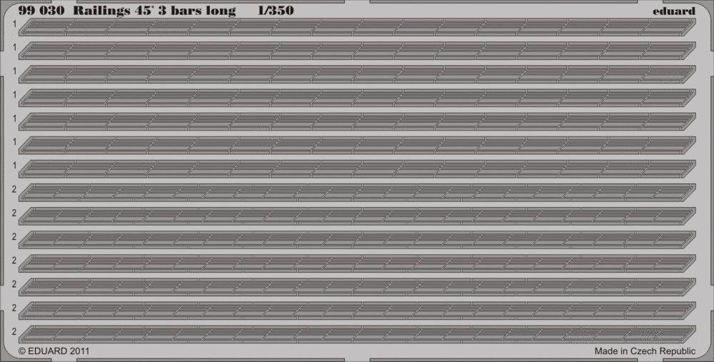 Eduard Railings 45' 3 bars long