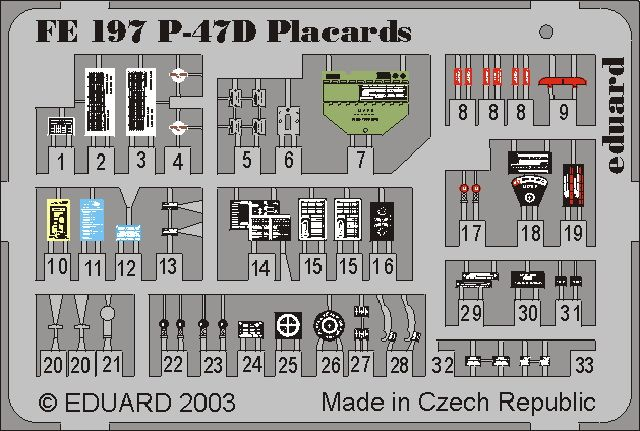 Eduard P-47D placards