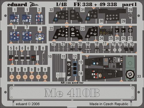 Eduard Me 410B (Revell)