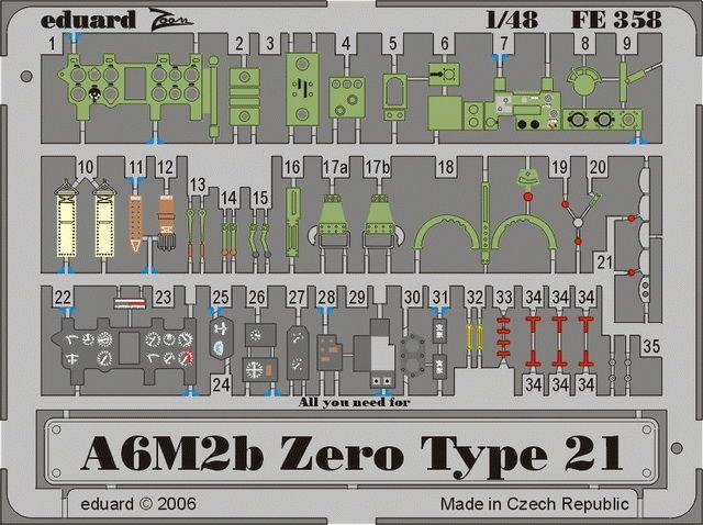 Eduard A6M2b Zero type 21 (Hasegawa)