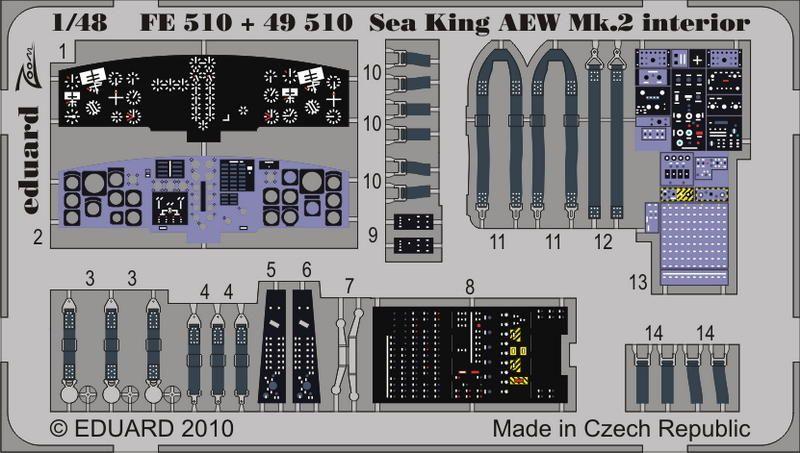 Eduard Sea King AEW Mk.2 interior S.A.. (Hasegawa)