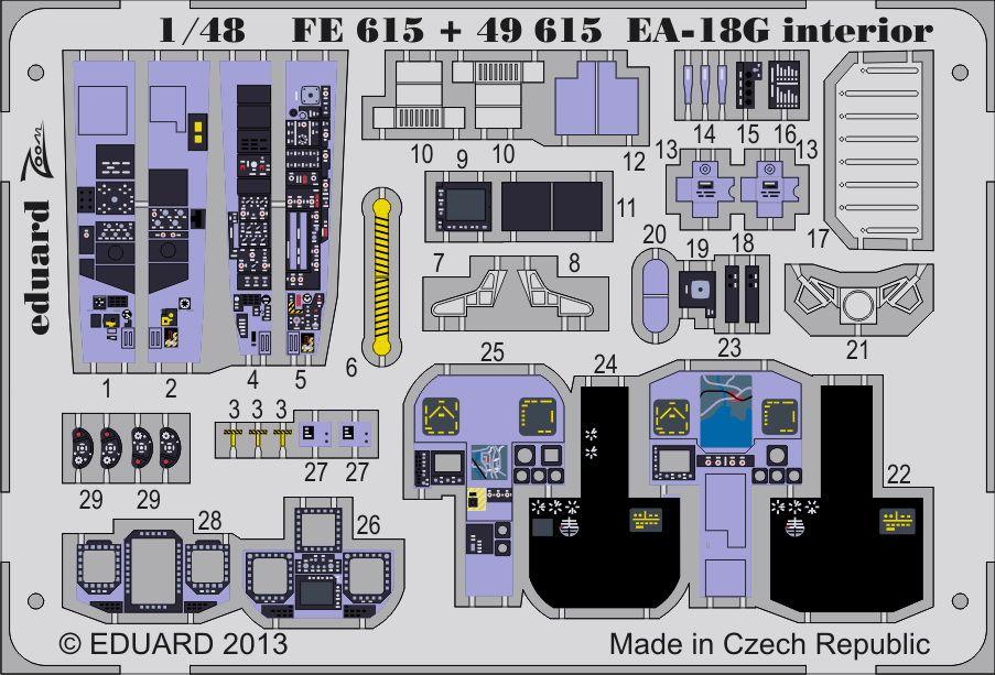 Eduard EA-18G interior S.A. (Italeri)