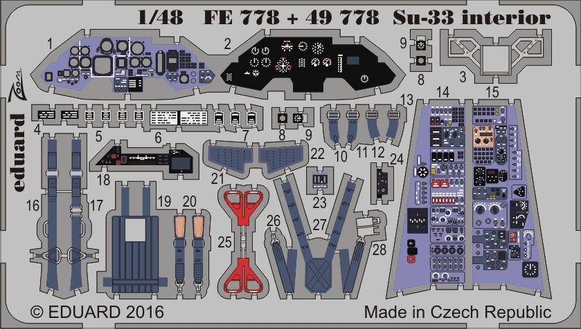 Eduard Su-33 interior (Kinetic)