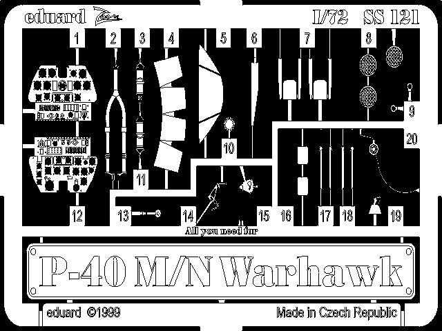 Eduard P-40M/N (Academy)