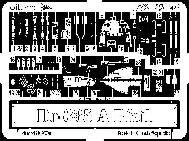 Eduard Do 335A Pfeil (Dragon, Revell)