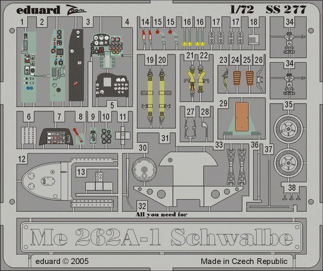 Eduard Me 262A-1 Schwalbe (Hasegawa)