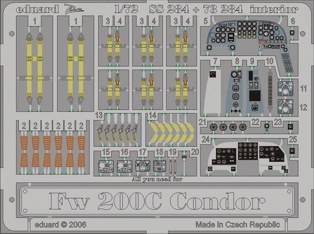 Eduard Fw 200C Condor interior (Revell)