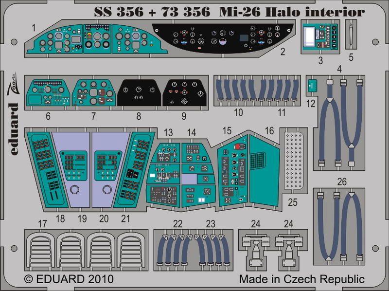 Eduard Mi-26 Halo interior (Revell, Zvezda)