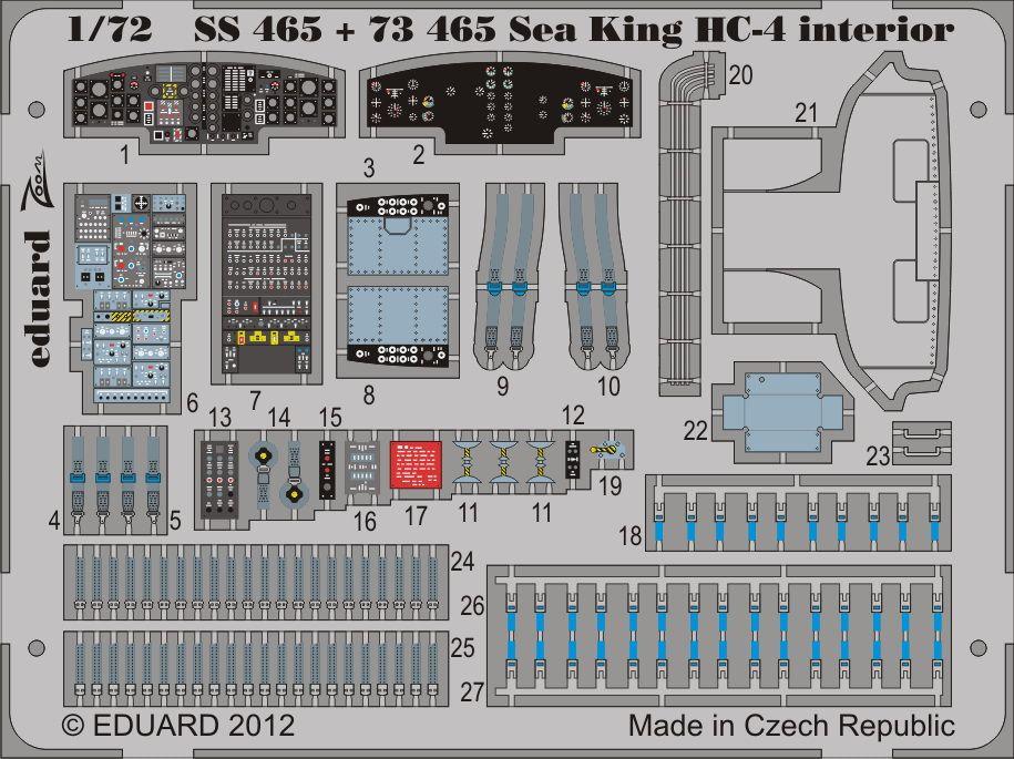 Eduard Sea King HC-4 interior S.A. (Cyber Hobby)