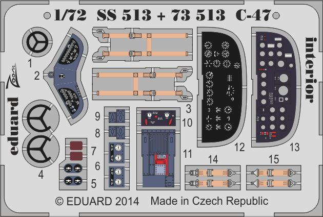 Eduard C-47 interior S.A. (Airfix)