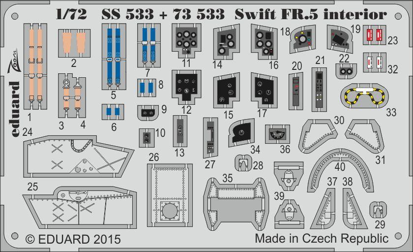 Eduard Swift FR.5 interior (Airfix)