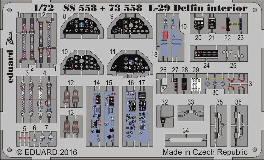 Eduard L-29 Delfin interior (AMK)