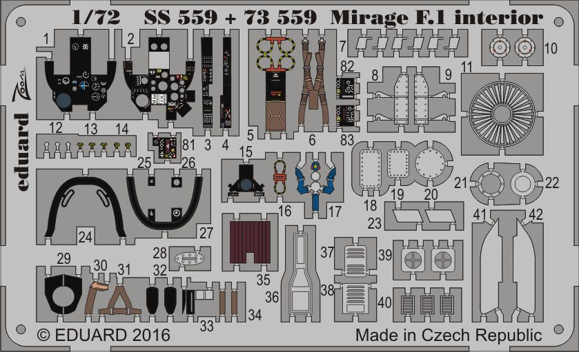 Eduard Mirage F.1 interior (Special Hobby)