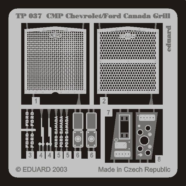 Eduard CMP Chevrolet/Ford Canada Grill (Italeri)
