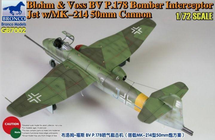 Bronco Blohm & Voss Bv P.178 Bomber Interceptor Jet with MK-214 50mm Cannon