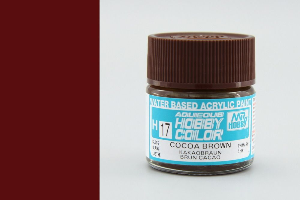 Mr Hobby Aqueous Color - Cocoa Brown (fényes)