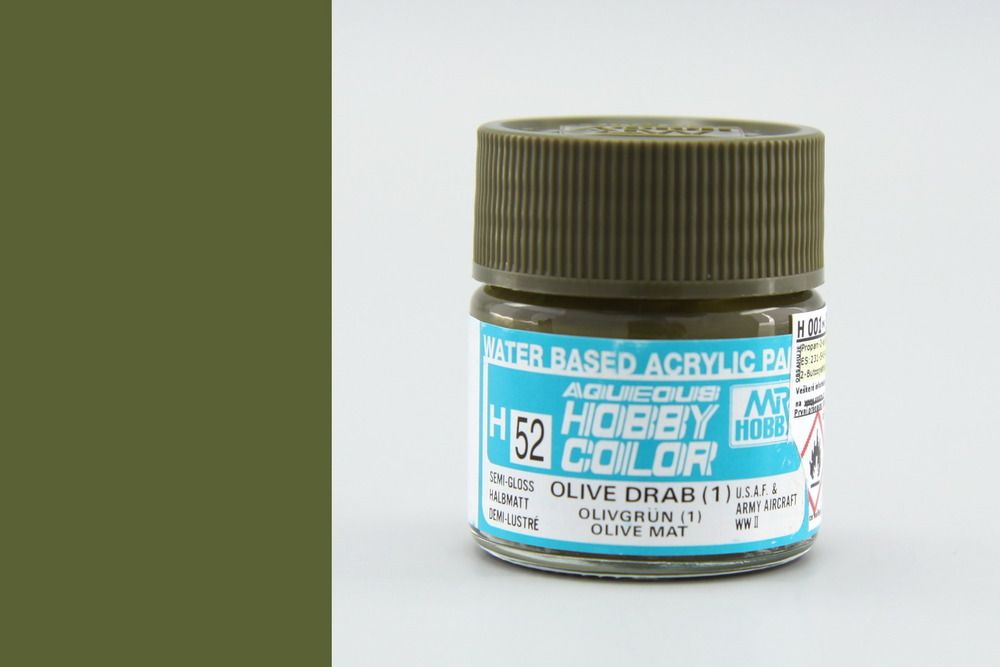 Mr Hobby Aqueous Color - Olive Drab 1. (selyemmatt)