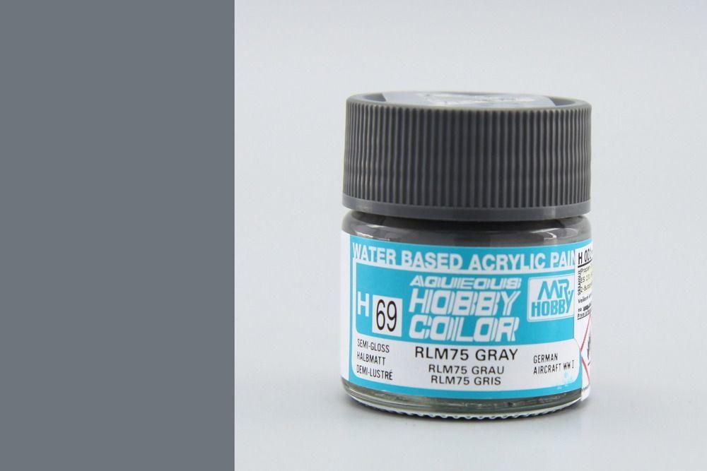 Mr Hobby Aqueous Color - Gray RLM75 (selyemmatt)