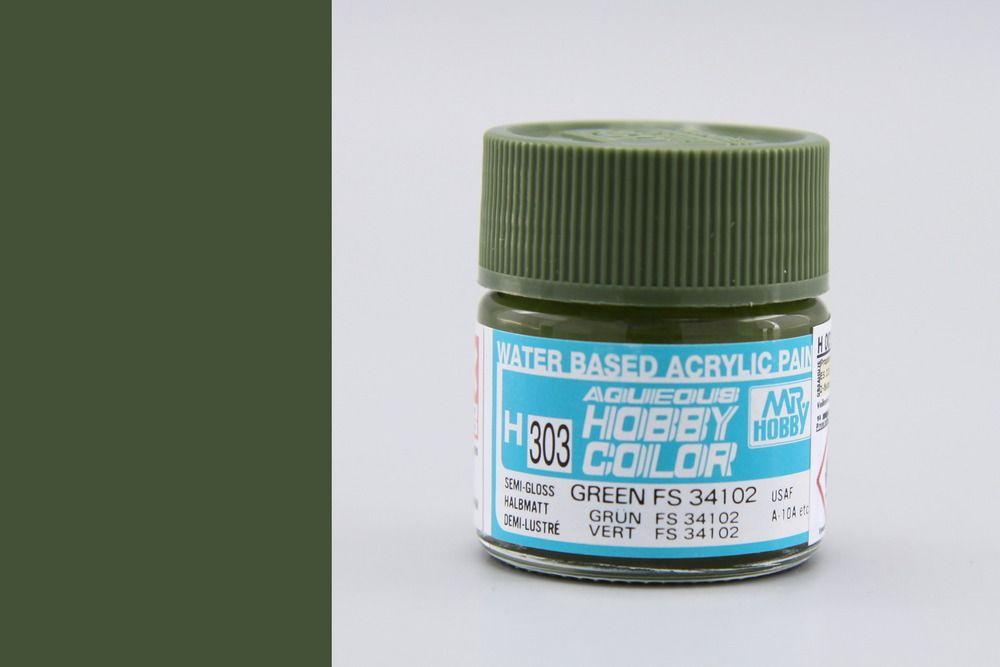 Mr Hobby Aqueous Color - Green FS34102 (selyemmatt)