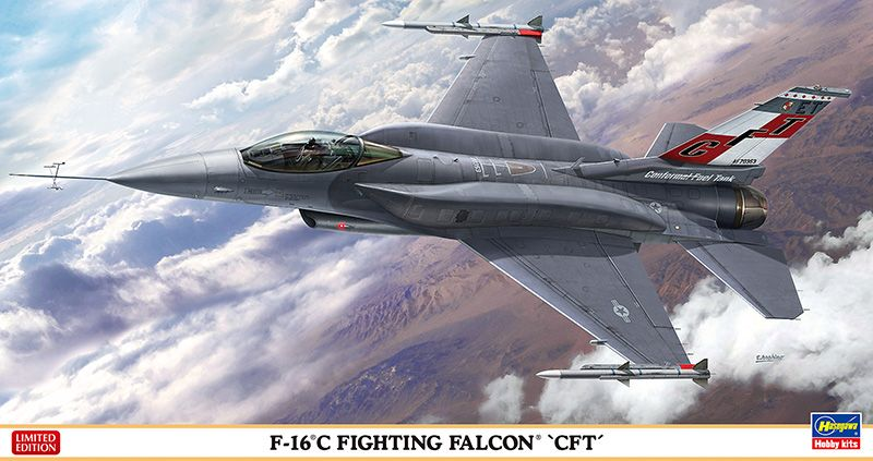 "Hasegawa F-16C Fighting Falcon ""CFT"" Limited Edition"