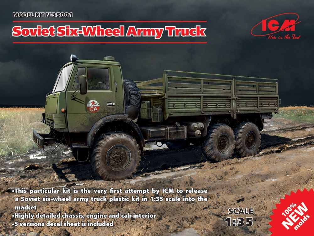 ICM Kamaz Soviet Six-Wheel Army Truck