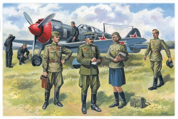 ICM Soviet Air Force Pilots and Groundcrew