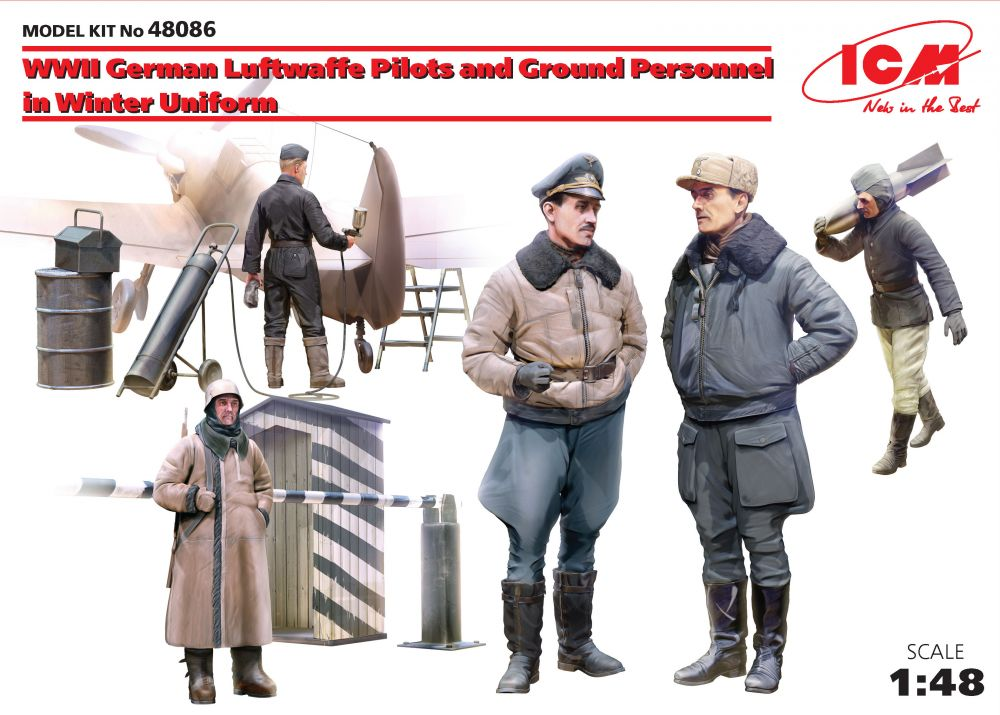 ICM WWII German Luftwaffe Pilots and Ground Personnel in Winter Uniform