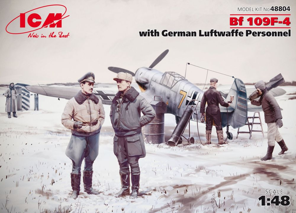 ICM Bf 109F-4 with German Luftwaffe Personnel