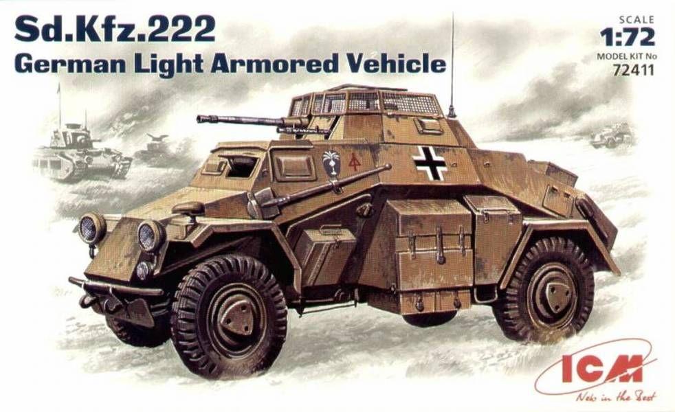 ICM Sd.Kfz.222 German Light Armoured Vehicle