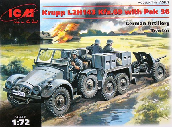 ICM Krupp L2H143 Kfz.69 Artillery Tractor and PaK-36 Gun