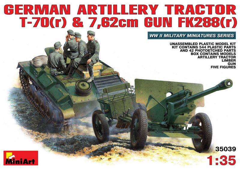MiniArt German T-70 and 76,2mm FK 288 mit Crew