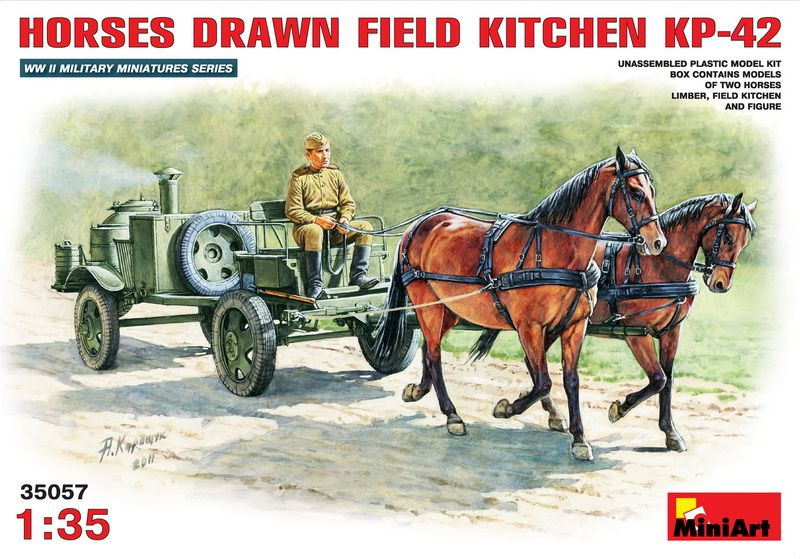 MiniArt Horses Drawn Field Kitchen
