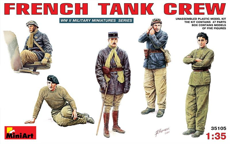 MiniArt French Tank Crew