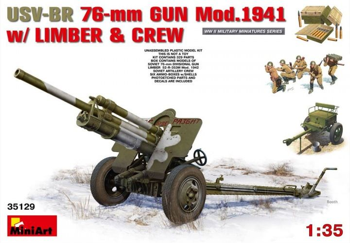 MiniArt USV-BR 76mm Gun Mod.1941 w/Limber & Crew