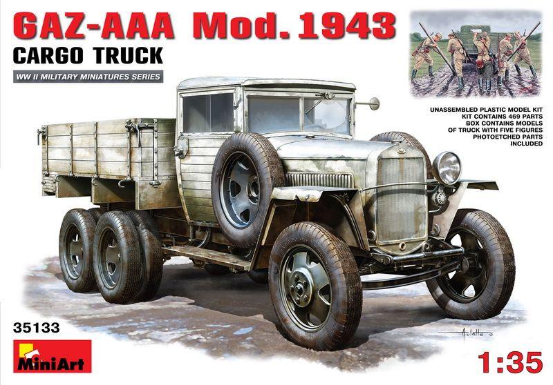 MiniArt GAZ-AAA. Mod. 1943. Cargo Truck